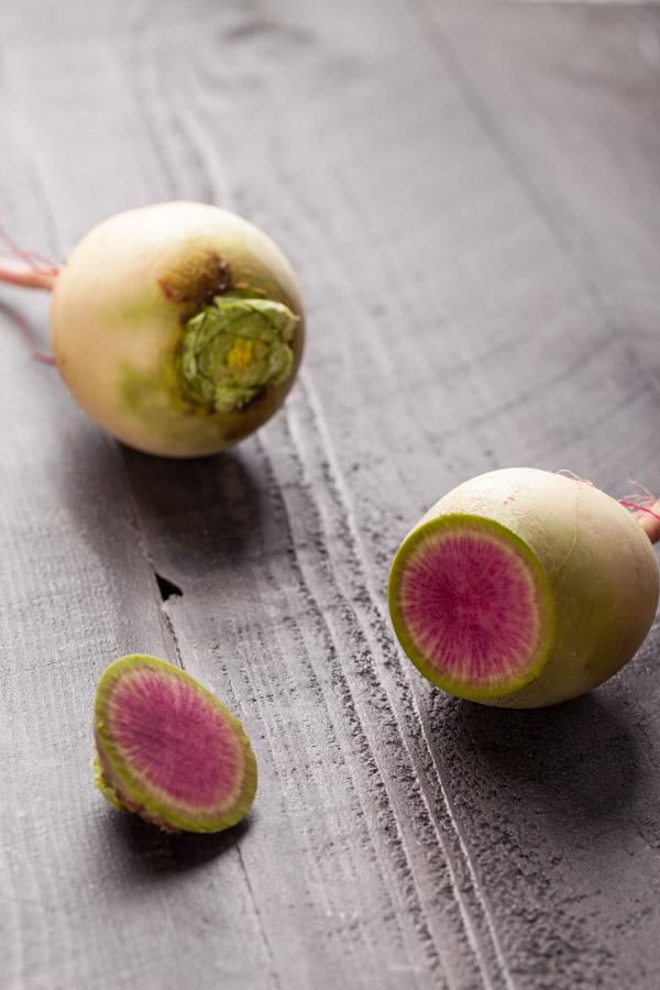 Organic watermelon radish