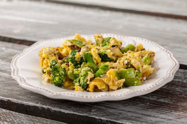 Broccoli scrambled eggs
