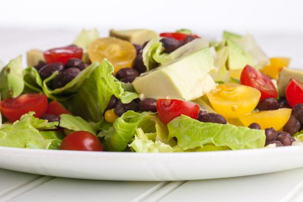 Black bean lime avocado salad