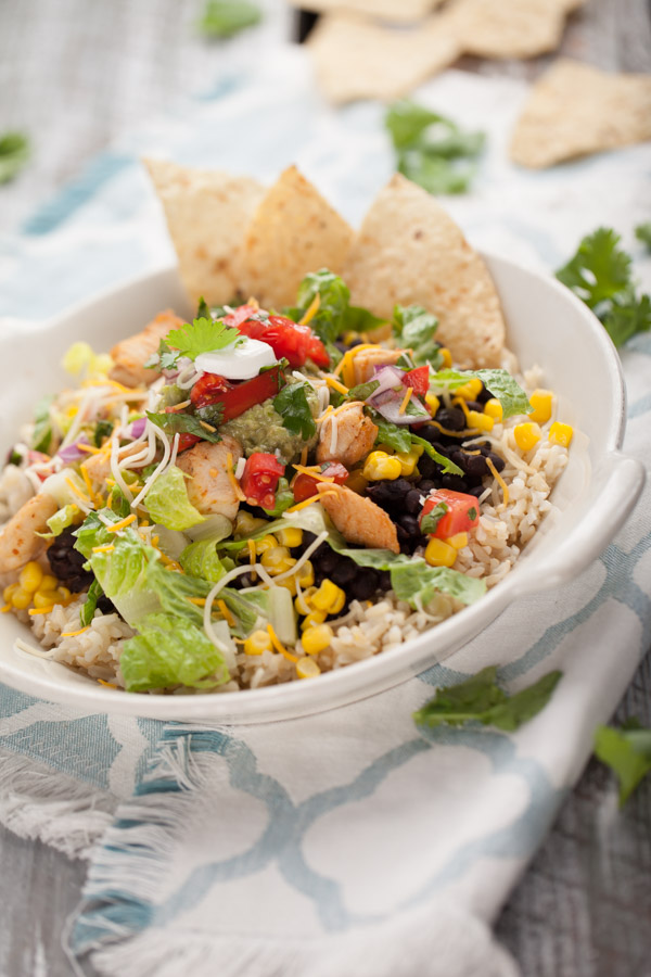 Taco salad chipotle bowl