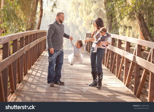 Happy Family on a bridge - income report