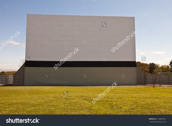 Large vintage outdoor drive-in movie theater - income report