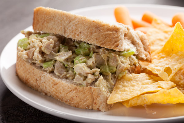 Chicken Avocado Lime Salad Sandwich