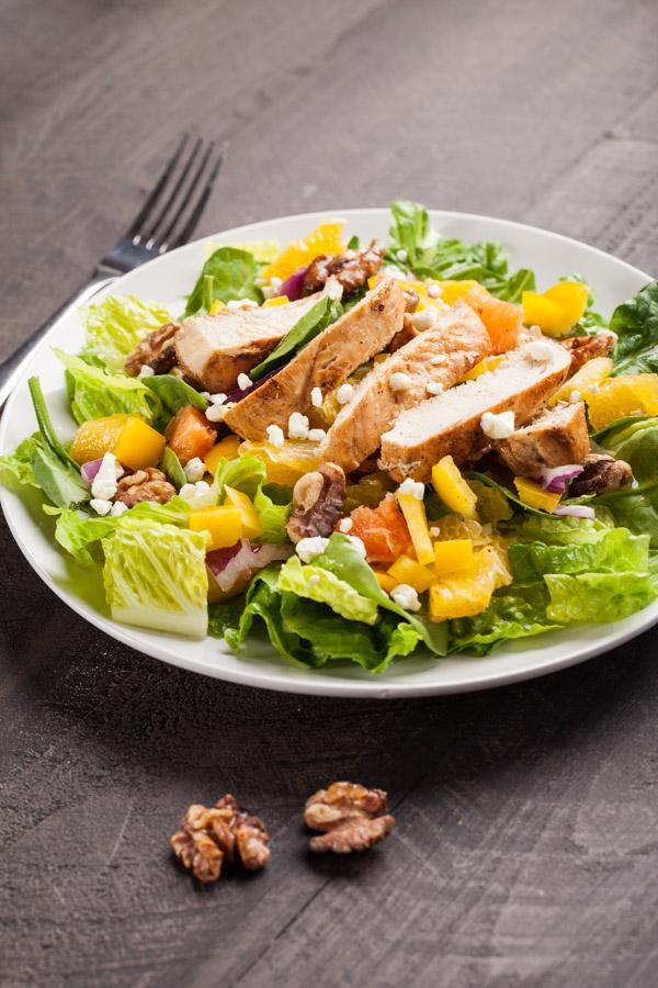 Narancsos őszi saláta
