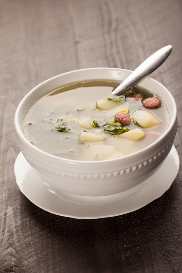 Portuguese Kale Sausage Potato Soup