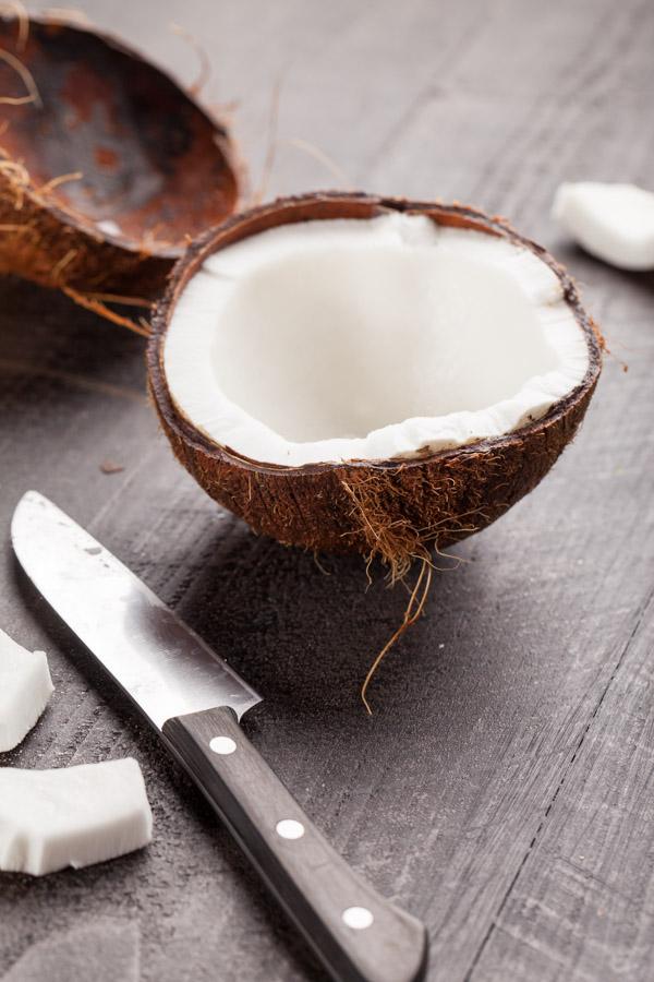 Raw coconut preparation