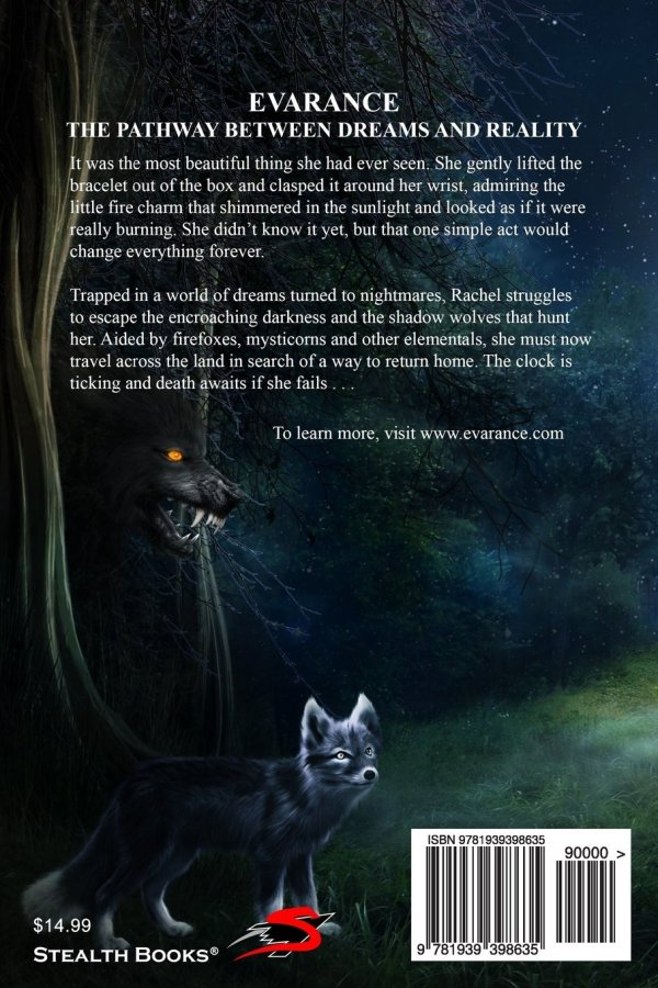 Evarance Rise of the Shadows Back Cover