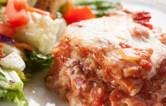 Four Cheese Italian Lasagna with Bolognese Sauce