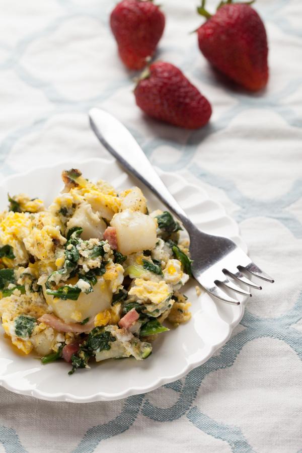 Potato Spinach Egg Scrambler