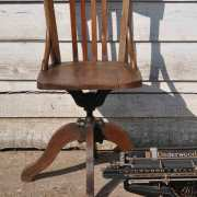 homebarn-antique-oak-office-chair