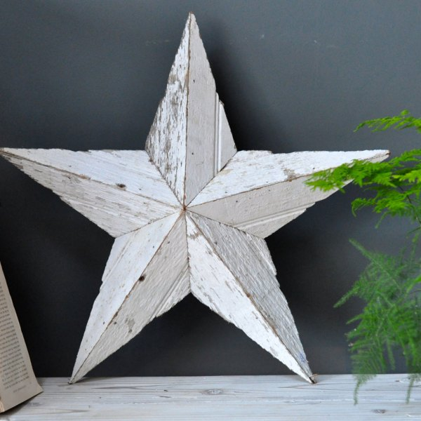 Salvaged Barn Wood Amish Star Lg / Med