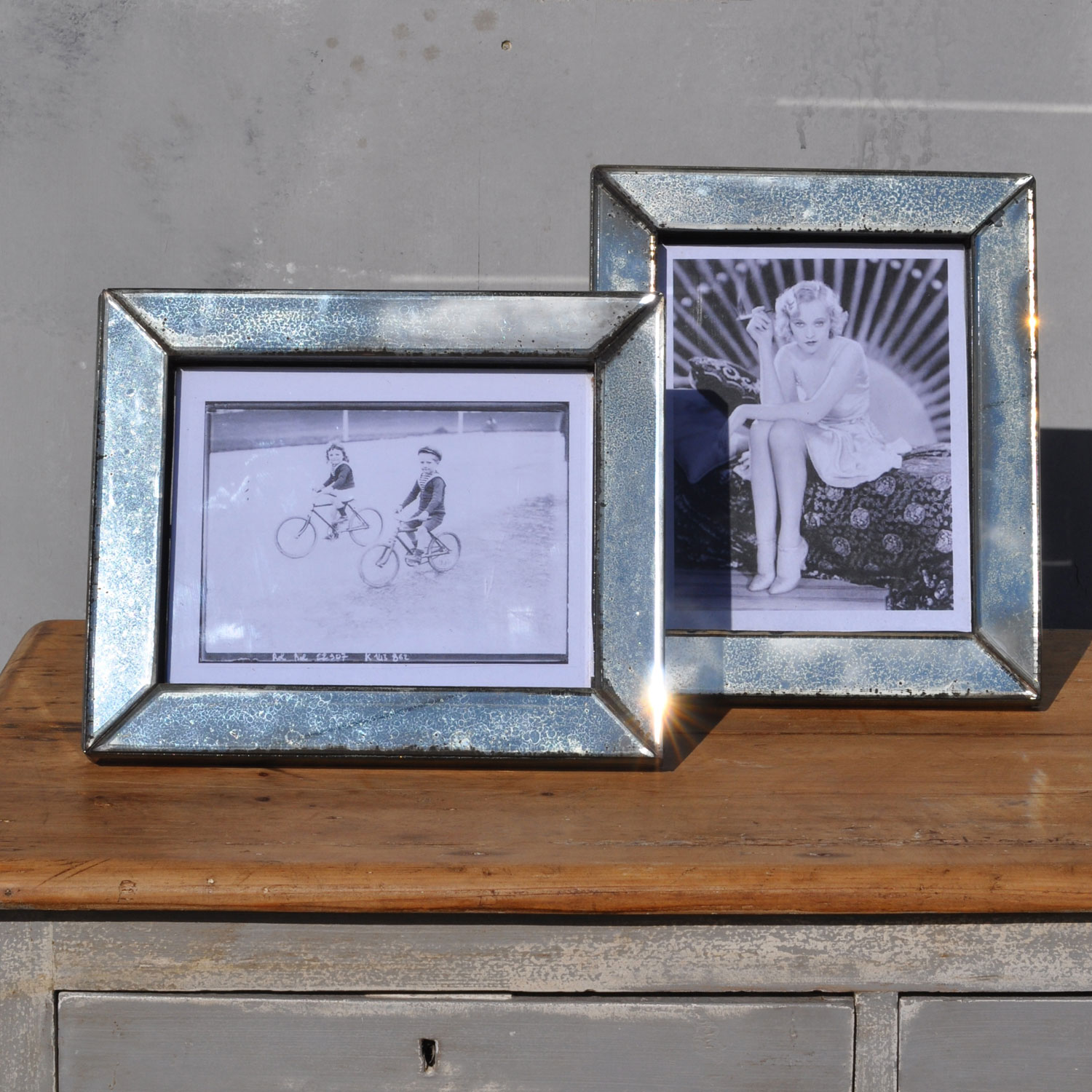 Verre Eglomise Art Deco Antiqued Mirror Picture Frame
