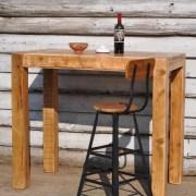 reclaimed timber restaurant poser dining table