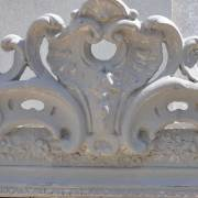Antique French Ornate Overmantle Mirror -