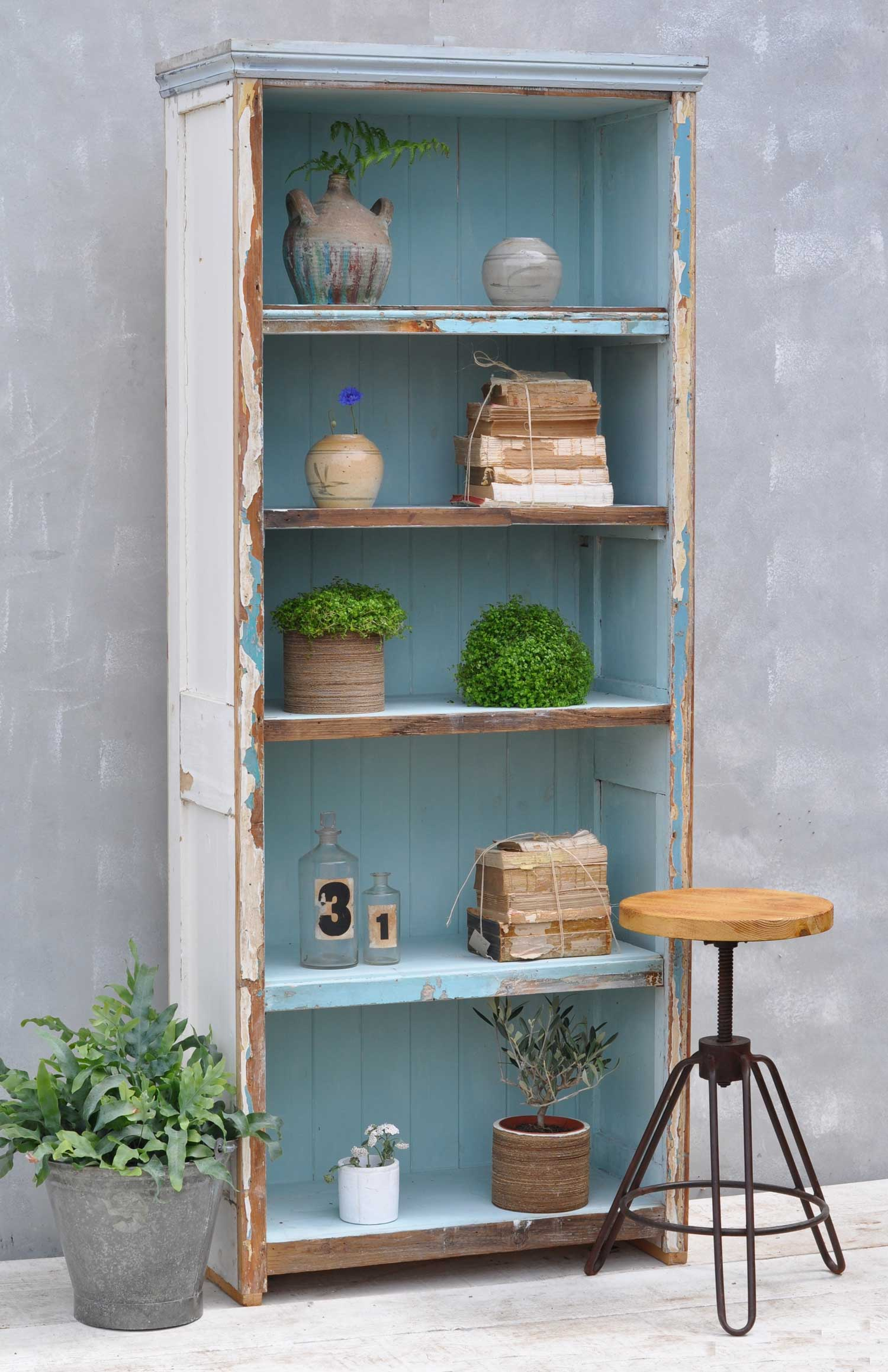 Reclaimed Bookshelves Interior Vintage Salvage