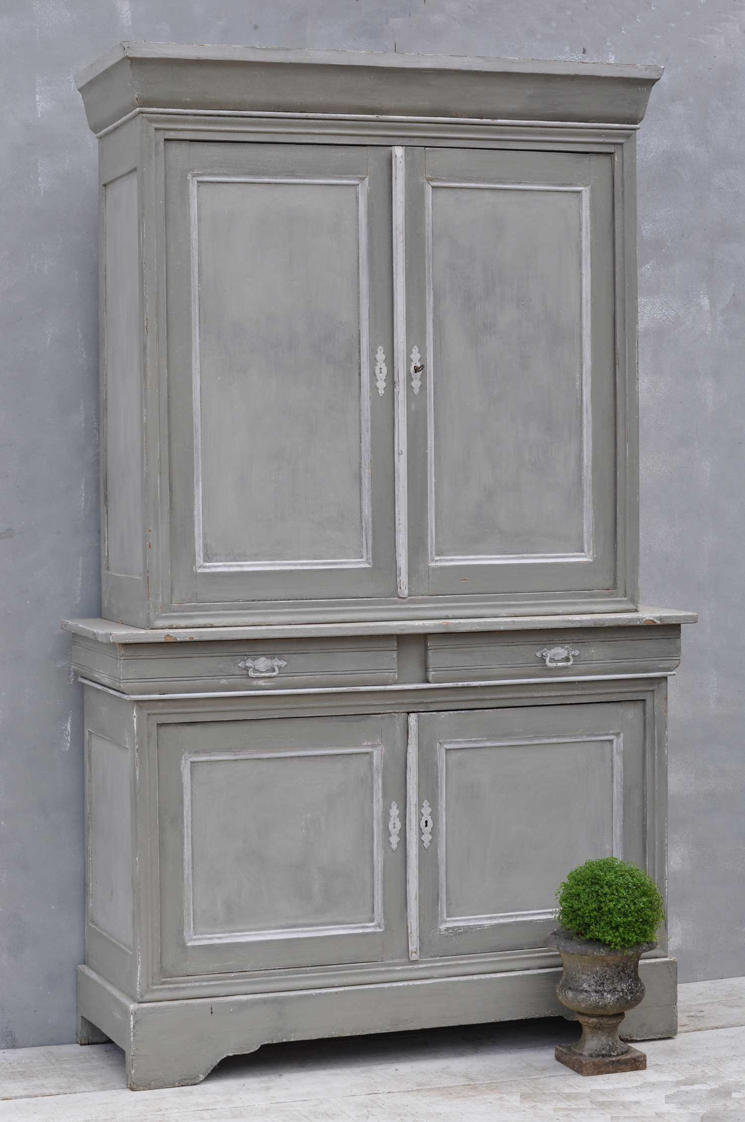 Vintage French Hand Painted Armoire Dresser
