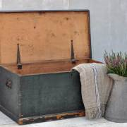 antique-rustic-green-blanket-box-chest-trunk-4