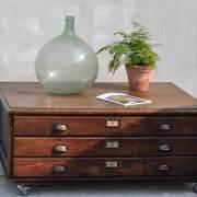 vintage-oak-plan-chest-coffee-table-on-wheels