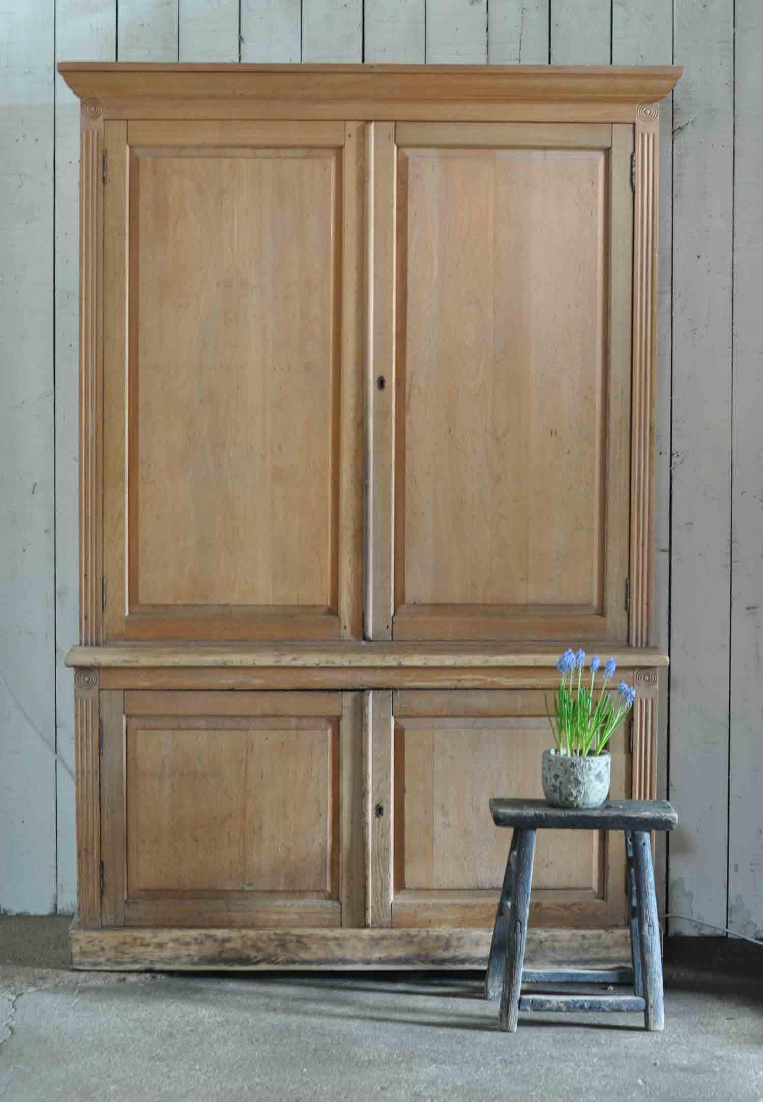 Antique Solid Oak Chiltern Valley School Cupboard Dresser