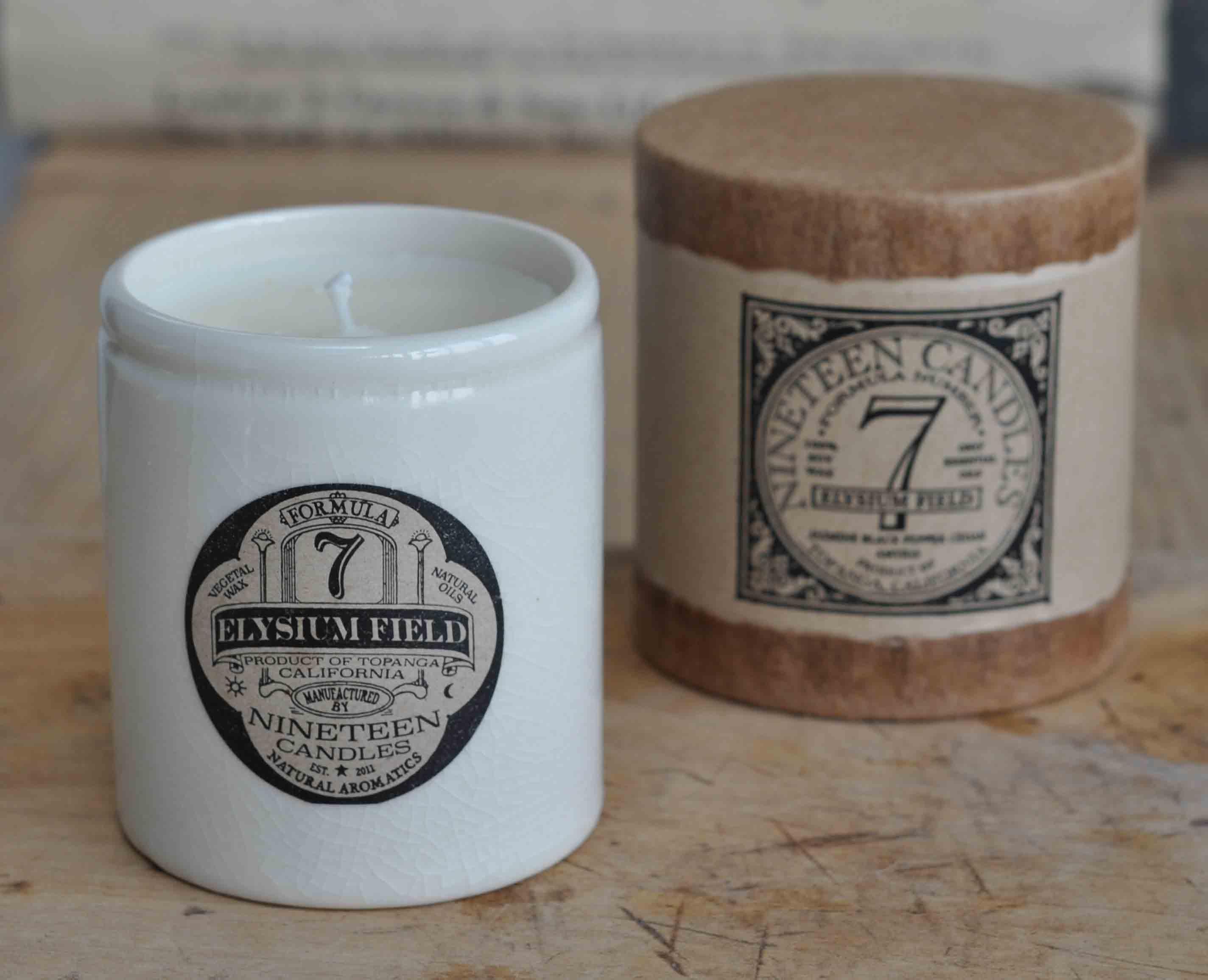 Handmade Nineteen Candle No 7 Elysium Field