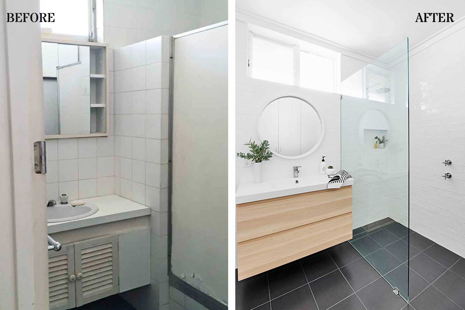 Before Amp After Bathroom Makeover Renovated From Disaster