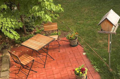 Eco-Friendly Home Decorating | Home Decorating Ideas ... on Small Backyard Brick Patio Ideas id=14139