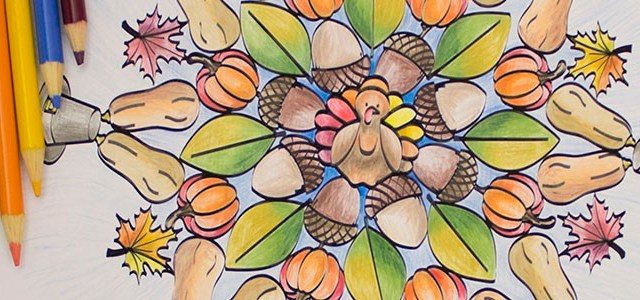 Ease Holiday Stress with Thanksgiving Adult Coloring Sheet