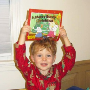 boy with max and ruby christmas book