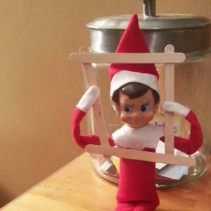 elf on the shelf popsicle stick frame