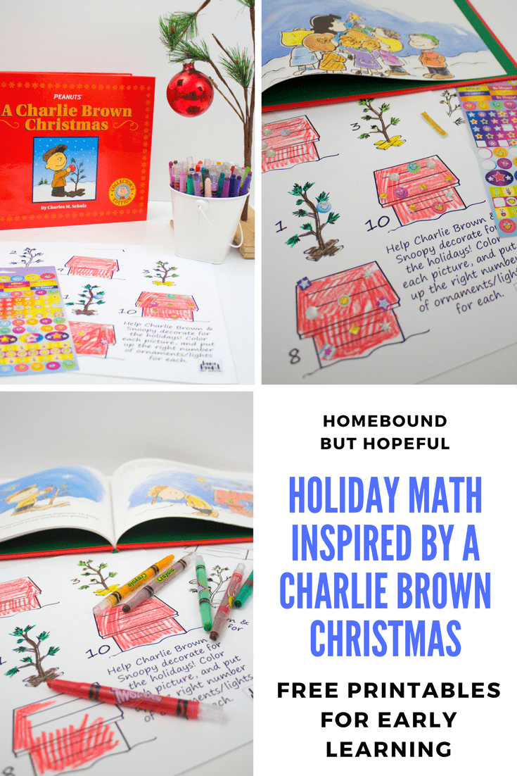 Holiday Math With A Charlie Brown Christmas- Includes Printable