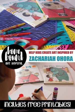 Here's a fun project that allows children to be an illustrator just like Zachariah OHora... Use my free printables to get the craft started, and help your kids create a masterpiece inspired by the style of OHora's books!