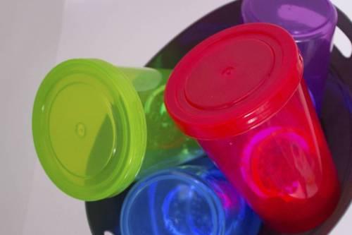 sensory toys in a bin