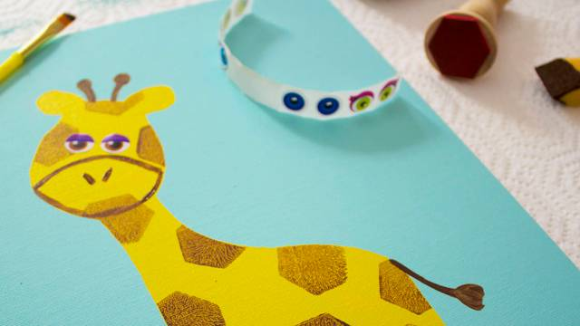 Giraffes Can't Dance – But They CAN Stamp!