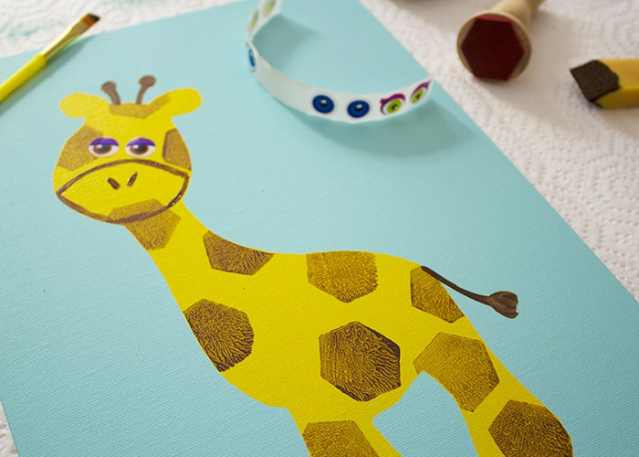 giraffe face detail