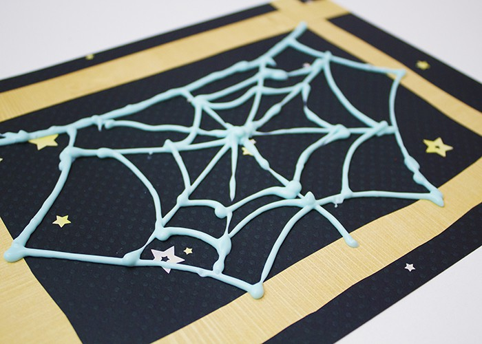 VERY BUSY SPIDER WEB CRAFT FINISHED