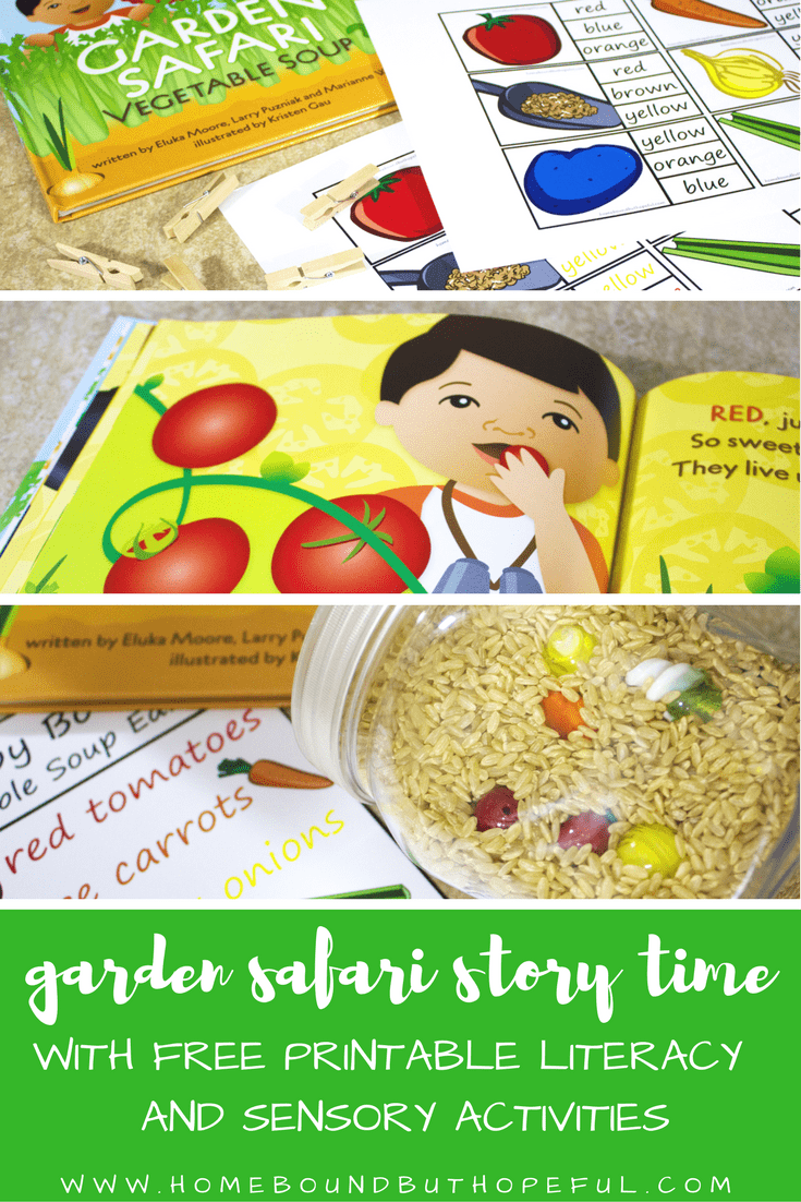Garden Safari Story Time | Vegetable Soup Story Time | Kitchen Club Kids | Reading Extensions | Early Learning | Early Literacy | Sensory Play | I Spy | Cooking With Kids | Free Printables