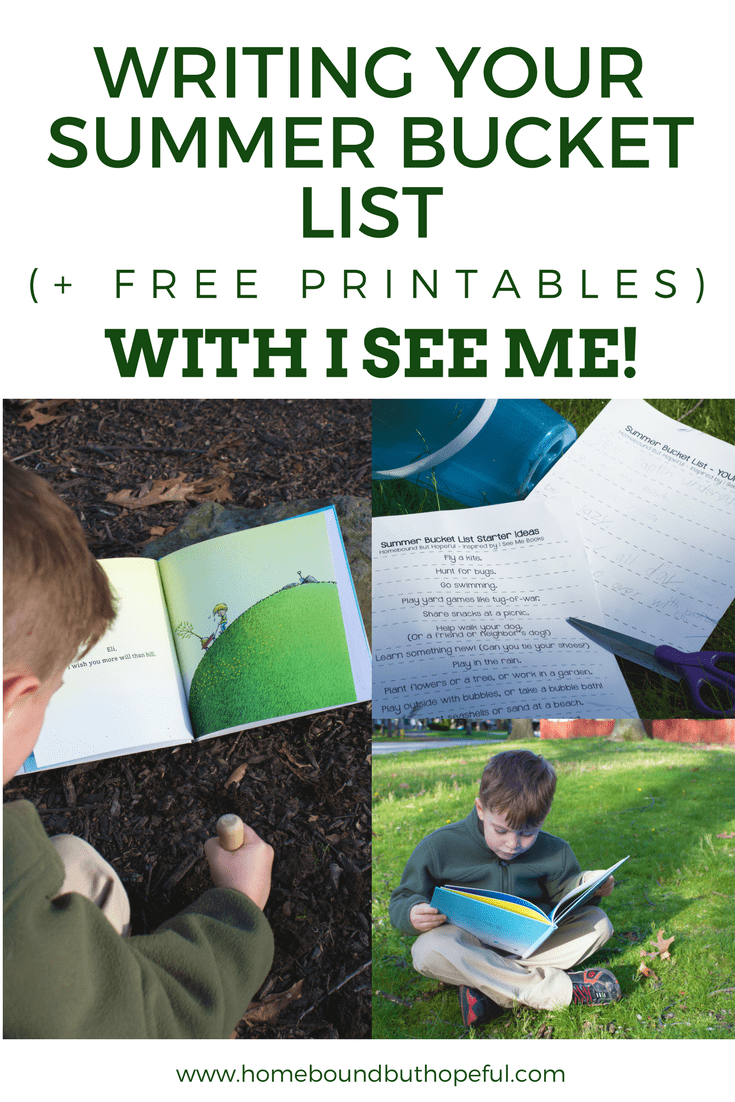 Writing a Summer Bucket List- inspired by I See Me! Personalized Books. Includes free printables to help your family write their own.