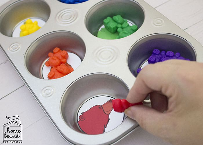 Counting Bears Story Time- Color Sorting