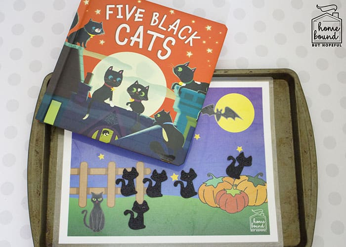 Halloween Counting Board Books- Five Black Cats- Magnetic Play