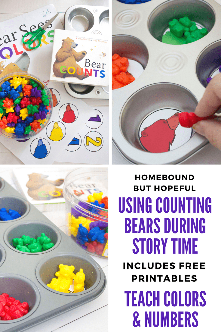 using counting bears as story time manipulatives