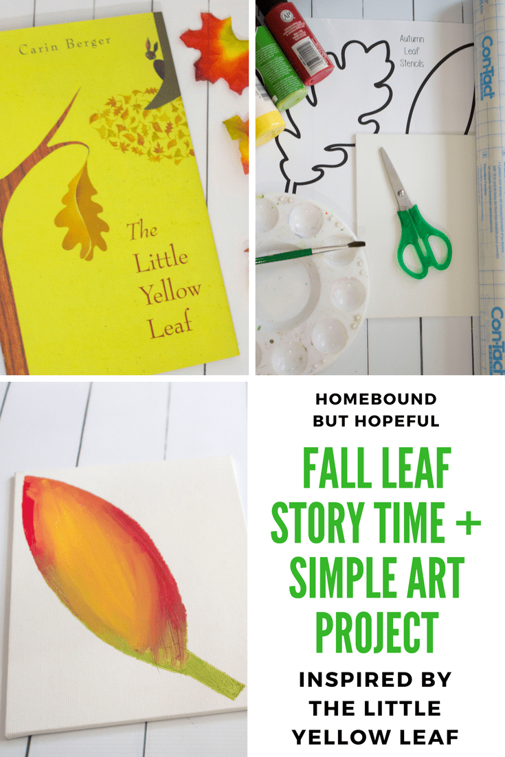 Change is in the air as fall settles in! Enjoy a fun fall leaf themed story time by reading The Little Yellow Leaf. Then use the printable template to paint your own simple autumn leaves! #thelittleyellowleaf #storytime #readaloudrevival #fallleaves #autumnleaves #fallleaf #autumnleaf #beyondthebook #kidscrafts