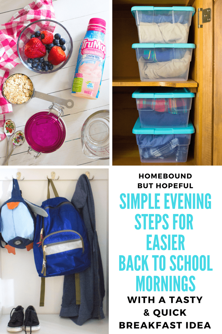 Adjusting to a new year's back to school routine can be challenging! I'm sharing a few of the #TriedAndTruMoo ways I've found to prepare for a busy morning the night before. #ad #BackToSchool #TruMoo #BackToSchoolHacks #MomHacks #newschoolyear