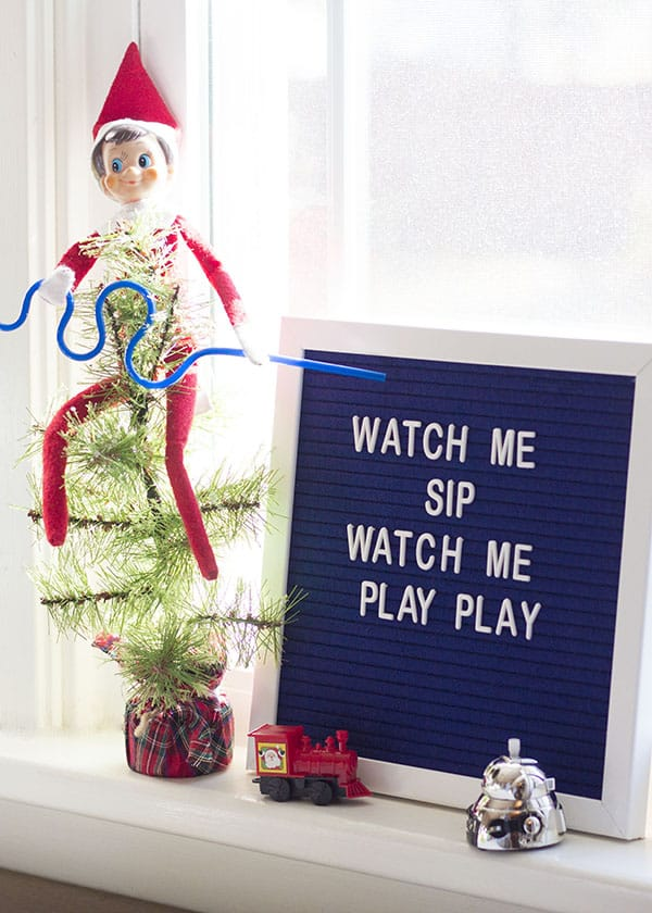 New Elf On The Shelf Ideas- Sip Play Play