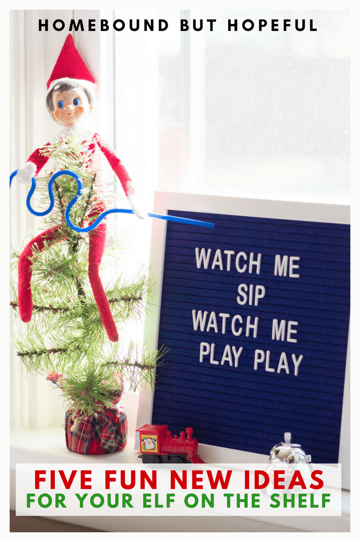 Already running out of ideas to move that Elf on the Shelf every night? I've got you covered with 5 brand new elf antics that your kids will love! #elfontheshelf #christmascountdown #christmastradition #christmasmemories #movetheelf