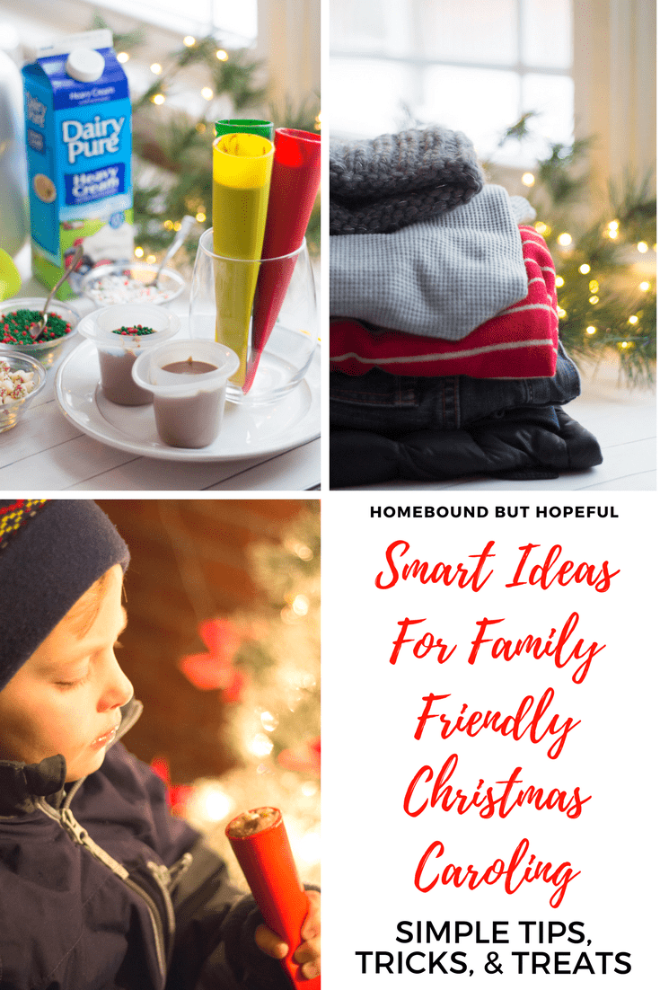 If you've ever been Christmas caroling before, you know that going with young kids can sometimes be tricky. Check out my tips, tricks, and treats to make Christmas caroling more family friendly! #ad #DairyPure #SimplyMadeMemories #ChristmasCaroling #ChristmasTraditions @garelickfarms
