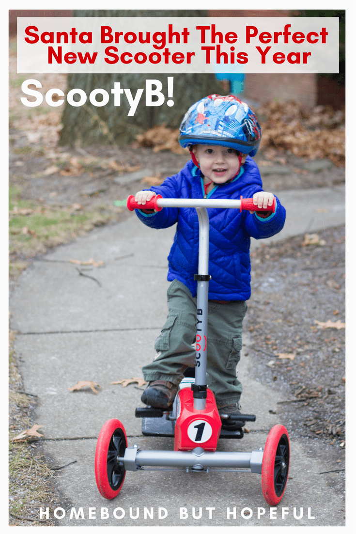If your kids love active, ride-on toys like bikes or scooters, you'll want to check out this innovative new product. My boys are loving their ScootyB - you'll be amazed by how special it truly is! #ad #ScootyB #Christmas #Scooters #PumpItUp