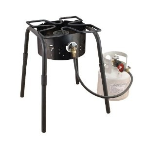Camp Chef SH-140L High Pressure Single Burner Cooker with Detachable legs and Clover Leaf Surface, Black
