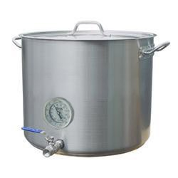 15 Gallon Heavy Duty Stainless Kettle Thermometer And