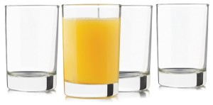 Libbey 5.5 -Ounce Heavy Base Juice Glass, Set of 4