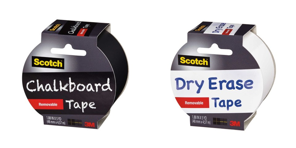 Scotch Chalkboard Dry Erase Tape